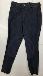 Бриджи джинсовые с коленной леей